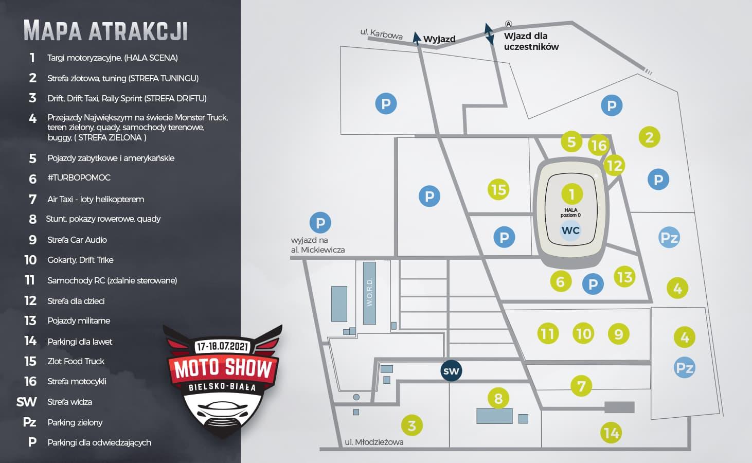 mapa motoshow bielsko-biała 2021