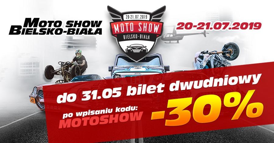PROMOCJA BILETÓW NA MOTO SHOW BIELSKO-BIAŁA 20-21.07.2019