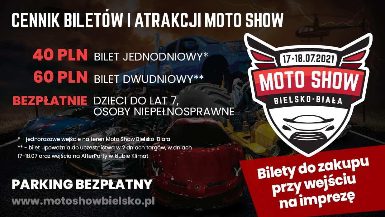 CENNIK BILETÓW MOTO SHOW 17-18.07.2021